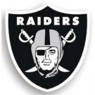 "Oakland Raiders 12"" Logo Car Magnets - Set of 2"