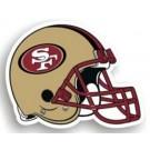 "San Francisco 49ers 12"" Helmet Car Magnets - Set of 2"