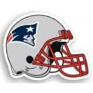 """New England Patriots 12"""" Helmet Car Magnets - Set of 2"""