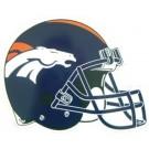 """Denver Broncos 12"""" Helmet Car Magnets - Set of 2"""