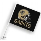 New Orleans Saints Car Flags - 1 Pair