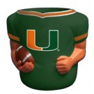 Miami Hurricanes Jersey Can Coolers - Set of 4