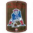 New England Patriots Throwback Logo Wood Sign