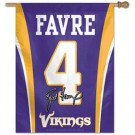 """Brett Favre Minnesota Vikings 27"""" x 37"""" Vertical Jersey Flag / Banner"""