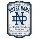 Notre Dame Fighting Irish College Vault Wood Sign