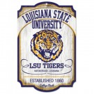 Louisiana State (LSU) Tigers College Vault Wood Sign