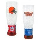 Cleveland Browns Plastic Crystal Pilsners - Set of 2