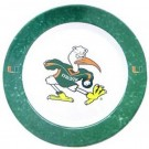 Miami Hurricanes Dinner Plates - Set of 4