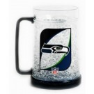 Seattle Seahawks Plastic Crystal Freezer Mugs - Set of 4