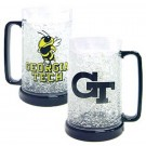 Georgia Tech Yellow Jackets Plastic Crystal Freezer Mugs - Set of 4