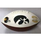 Iowa Hawkeyes Embroidered Full Size Football from Fotoball