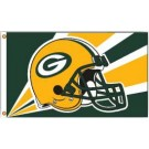 Green Bay Packers 3' x 5' Helmet Design Flag from Fremont Die