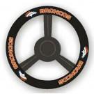 Denver Broncos Leather Steering Wheel Cover