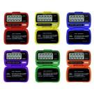 Ultrak Electronic Pedometers (Set of 6 Rainbow Colors)