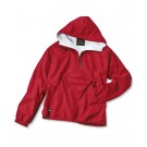 "The ""Kids' Collection"" Youth Classic Solid Nylon Windbreaker Pullover Jacket from Charles River Apparel"