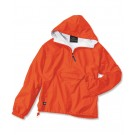 "The ""Classic Collection"" Classic Solid Nylon Windbreaker Pullover Jacket from Charles River Apparel"