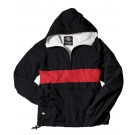 "The ""Classic Collection"" Classic CRS Striped Nylon Windbreaker Pullover Jacket from Charles River Apparel"