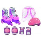 Girls Medium Convertible Training Inline Skates Package from Chicago Skates