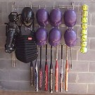 Softball Dugout Organizer Rack
