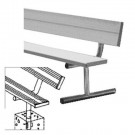 8' Heavy Duty Permanent Aluminum Bench with Back