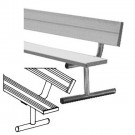 8' Heavy Duty Portable Aluminum Bench with Back