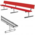 15' Color Heavy Duty Portable Aluminum Bench with Back