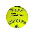 "12"" Classic Super Gold Dot Softballs from Worth - 1 Dozen"