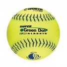 "11"" Classic Super Green Dot Softballs from Worth - 1 Dozen"