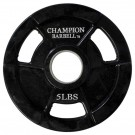 5 lb. Champion Rubber Coated Olympic Grip Plate