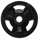25 lb. Champion Rubber Coated Olympic Grip Plate