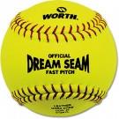 Worth 12'' Dream Seam Fastpitch Softballs (1 Dozen)