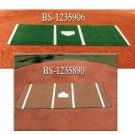 6' x 12' Baseball Synthetic Turf Home Plate Mat