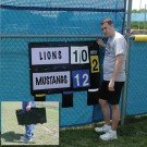 Fence Mounted Scoreboard