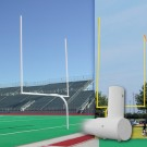 Official High School White Gooseneck Goal Post (1 Pair)