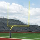 Official High School Yellow Gooseneck Goal Post (1 Pair)