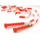 7' Red / White Segmented Skip Rope (Set of 20)