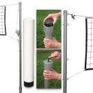 Outdoor Volleyball Set with Steel Top Cable Net (without Ground Sleeve Caps)