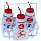 Cramer Wire Bottle Carrier - Holds 6 Quart Size Squeeze Bottles (Case of 8)