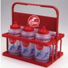 Collapsible Water Bottle Carrier with 6 Quart-Size Bottles (Case of 4)