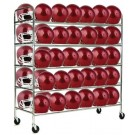60 Football Helmet Storage Cart