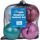 Weighted Training Softball Set - Set of 4