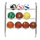 3 Row Wall Mount Ball Rack