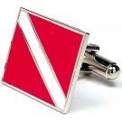 Scuba Diver's Flag Executive Cuff Links - 1 Pair