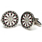 Dart Board Cuff Links - 1 Pair