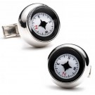 Compass Sterling Silver Cuff Links - 1 Pair