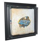 """Case-Up"" Wall Mountable Full Size Baseball Base Display Case (Black)"