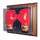 "The ""Case-Up"" Collection Double Boxing Glove Display Case (Mahogany Finish)"