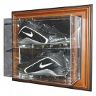 """Case-Up"" Double Baseball Cleat Display Case (Mahogany)"