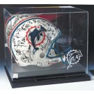 Full Size Football Helmet Display Case with Mirrored Back and Engraved NFL Team Logo