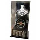 Boston Bruins 2011 Stanley Cup Champions Puck Display Case with Scores